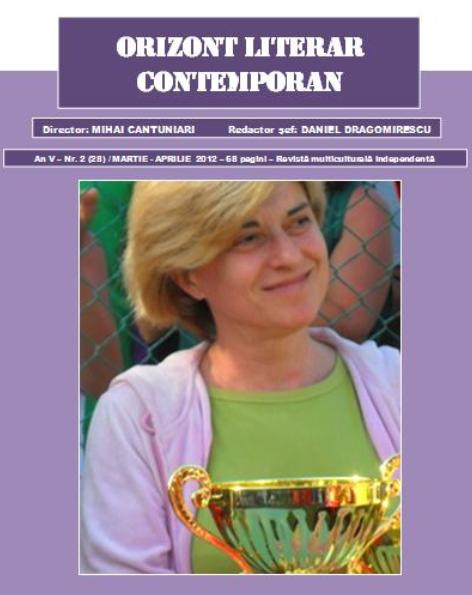 CONTEMPORARY LITERARY HORIZON 2 (27)/MARCH-APRIL 2012 – *COVER ONE: ITALIAN WRITER ROSETTA SAVELLI* *FROM THE SUMMARY* *I. - CONTEMPORARY LITERARY HORIZON 2 (27)/MARCH-APRIL 2012 – *COVER ONE: ITALIAN WRITER ROSETTA SAVELLI* *FROM THE SUMMARY* *I.