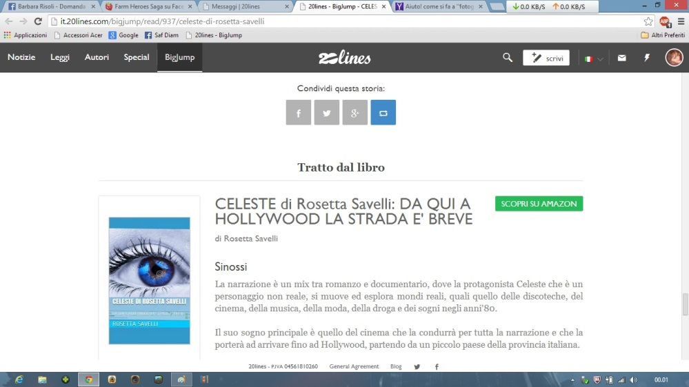 CELESTE di Rosetta Savelli it.20lines.com Da qui a Hollywood la strada è breve pag. 9 - 10 - 11 - 12 - 13